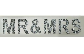 """ New Diamond Crush Plaque ""Mr & Mrs"" item in stock"