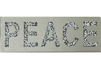 """ New Diamond Crush Plaque ""Peace"""