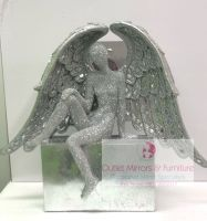 # Sitting Sparkle Angel Lady 38cm x 34cm x 12cm in stock for immediate delivery