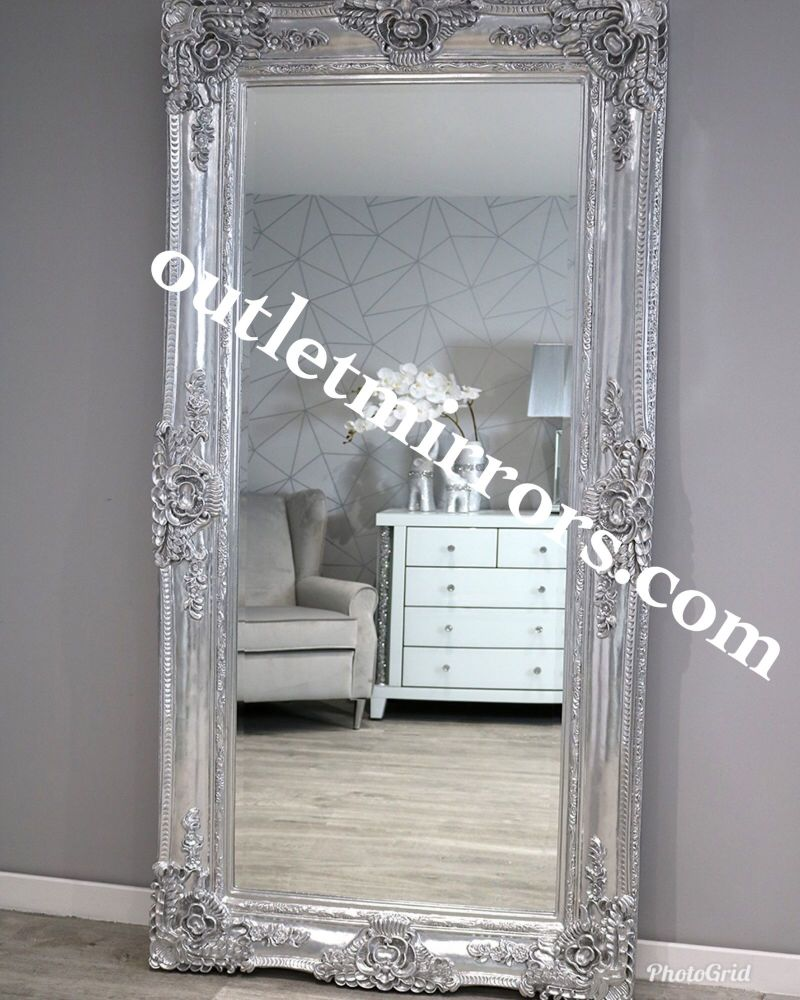 Rococo Scroll Chrome Shaped Bevelled Mirror 204cm