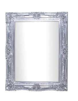 Rococo Scroll Chrome Shaped Bevelled Mirror 122cm