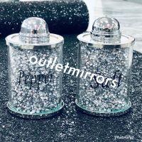 """"""" New Diamond Crush Set of Salt & Pepper Shakers item in stock"""