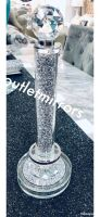 """ New Diamond Crush Sparkle Kitchen Roll Holder 35cm high - in stock"