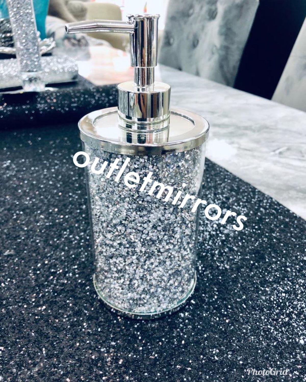 Quot New Diamond Crush Mirrored Soap Dispenser Item In Stock