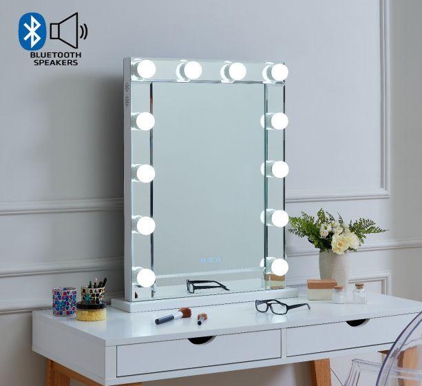 Desktop Hollywood Mirror with Bluetooth Speaker 80cm x 60cm