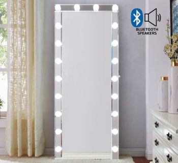 Hollywood Mirror in Silver with Bluetooth speaker and usb port 170cm x 70cm