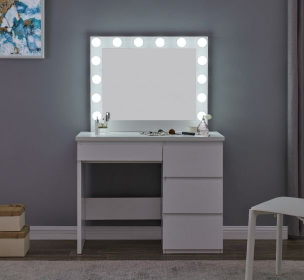 Hollywood Mirror Vanity Station in White