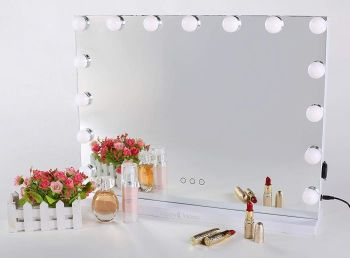Small Hollywood Mirror White 46cm X 58cm