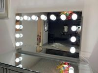 Large Hollywood Mirror Silver