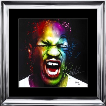 limited Edition Signed Mike Tyson Colours Wall art 90cm x 90cm
