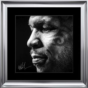 limited Edition Signed Mike Tyson Face Wall art 90cm x 90cm