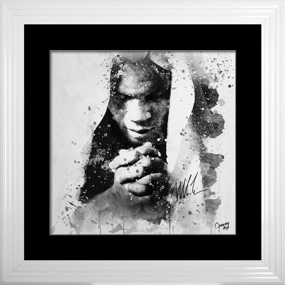 limited Edition Signed Mike Tyson Prayer Wall art 90cm x 90cm