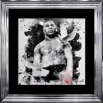 limited Edition Signed Mike Tyson Pose Wall art 90cm x 90cm