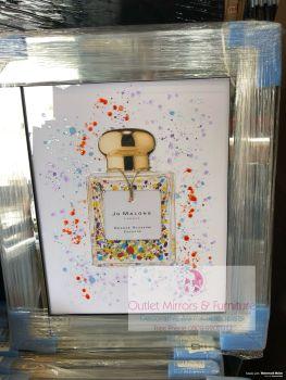 "Mirror framed Liquid art ""Jo Malone White"""