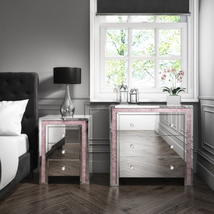 # Crush Sparkle Pink & Silver Mirrored Furniture