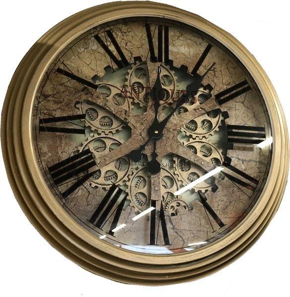 Antique Effect Skeleton Wall Clock - 66.5cm