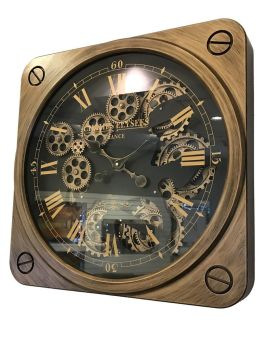 Copper & Black Gears Wall Clock - 49.5cm