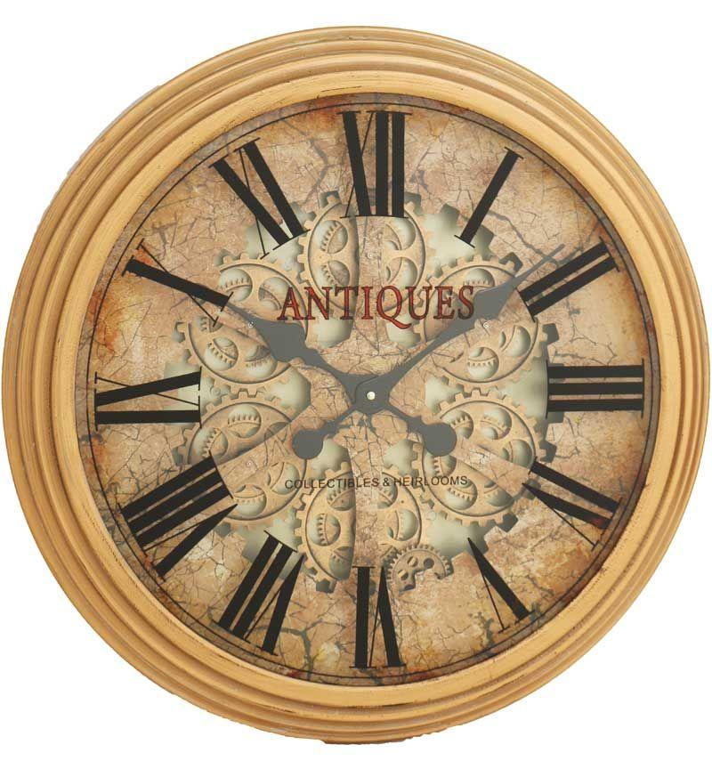 Gold Frame Skeleton Wall Clock - 62.5cm