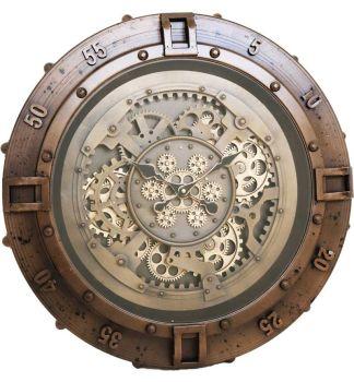 Round Skeleton Wall Clock - 60cm