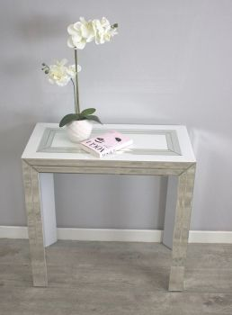 Bianco White & Mirrored Console Table 80cm