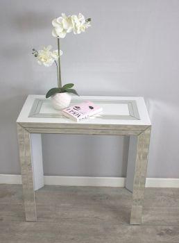 Bianco White & Mirrored Console Table 80cm