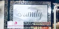 "Special offer Mirror framed art print "" Sparkle Family"" 100cm x 60cm in stock"