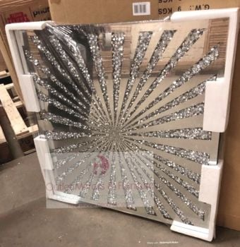 """ New Diamond Crush Sunburst Panel Wall Art"