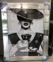 """Modern Lady 6"" Sparkle Wall Art in a Mirror Frame"
