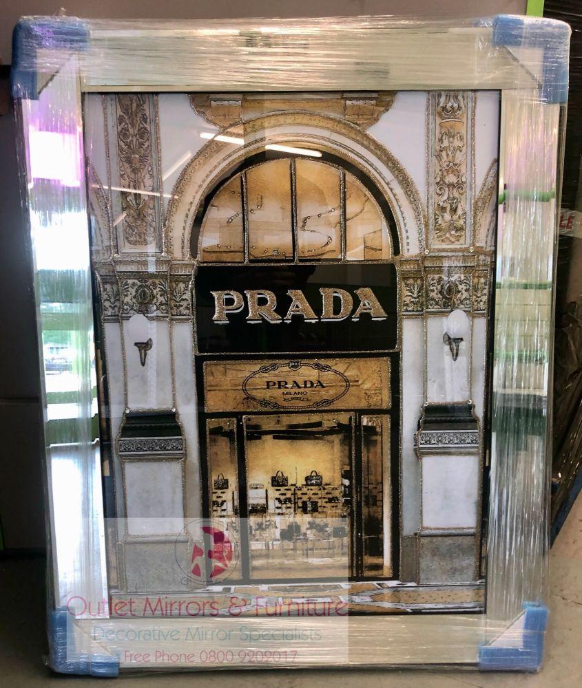 Prada Boutique in a mirror frame 95cm x 75cm