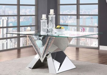 "* Diamond Crush Sparkle Dining Table ""V"" - item in stock"