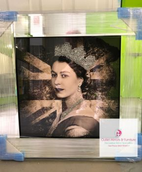 "Mirror framed ""The Queen"" Wall Art in stock"