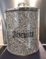 """ New Diamond Crush Biscuit Barrel  in stock Large - 15.5cm dia"