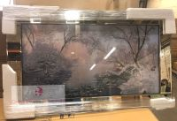 "Mirror framed art print "" Calm Winter River"" 100cm x 60cm"