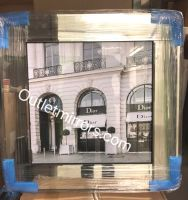 Boutique Dior Glamour Art in a Mirrored Frame 55cm x 55cm in stock