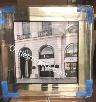Boutique Dior Glamour Art in a Mirrored Frame 55cm x 55cm