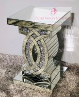 "* Diamond Crush Sparkle ""CC"" Lamp Table  in stock"