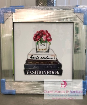 "Mirror framed Sparkle Glitter Art ""Chanel  No 5"" In stock for a fast delivery"