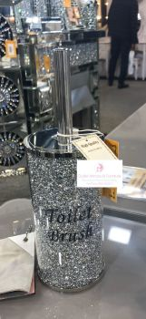 """ New Diamond Crush Toilet Brush Holder"