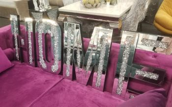 "* New Diamond Crush Sparkle Letters ""Home"""
