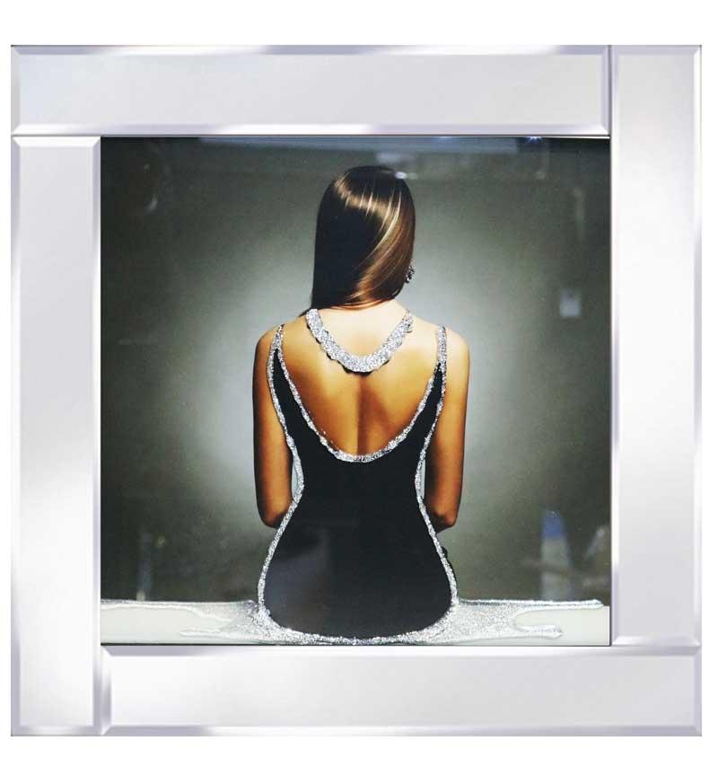 Mirrored framed Liquid Art