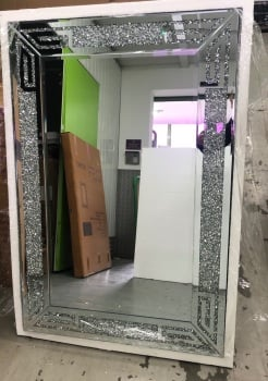 *special offer* New Diamond Crush Sparkle Aztec Wall Mirror 120cm x 80cm