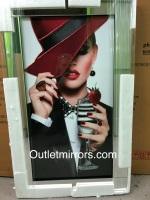 "Mirror framed Sparkle Liquid Art ""Glamour Lady 5"""