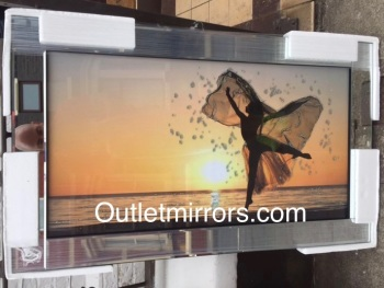 "Mirror framed ""Sunset Dancing Lady"" Wall Art in stock"
