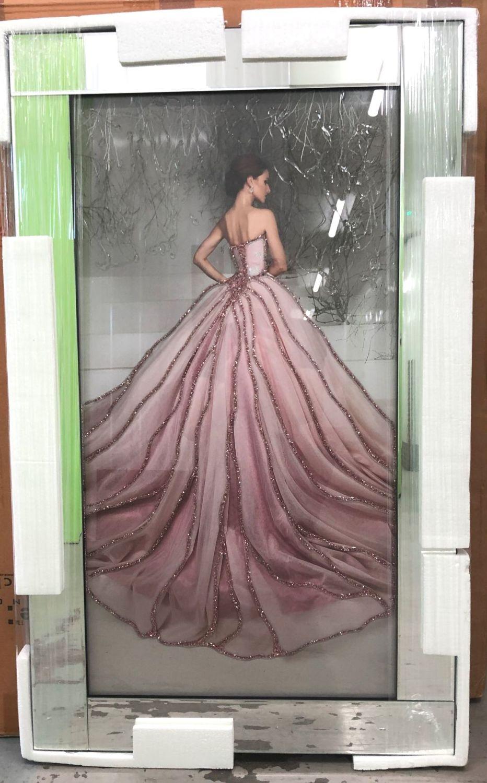 Mirror Framed Sparkle Art