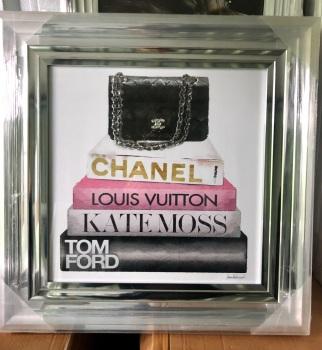 """""""Sparkle Handbag (1)"""" Wall Art in a chrome frame"""