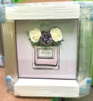 """Mirror framed Sparkle Glitter Art """"Miss Dior Blooming Bouquet with Flowers"""