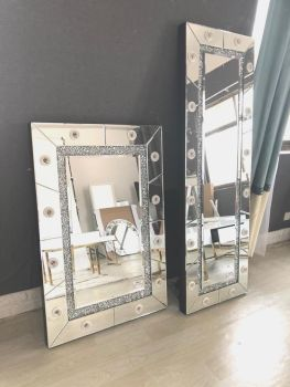 * Diamond Crush sparkle  Hollywood Mirror   180cm x 70cm  Special offer