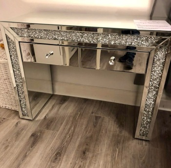 *Diamond Crush Crystal 2 Draw  Console Table / Dressing table