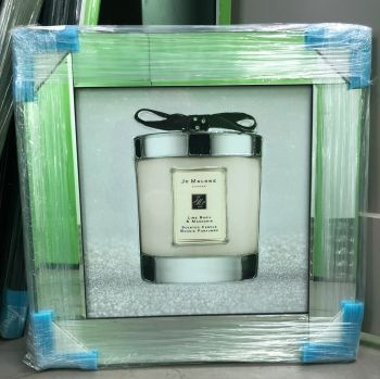 "Mirror framed art print ""Jo Malone White 3"" in stock"