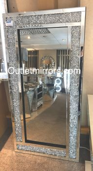 * New  Diamond Crush Sparkle Mirror wide border 160cm x 80cm